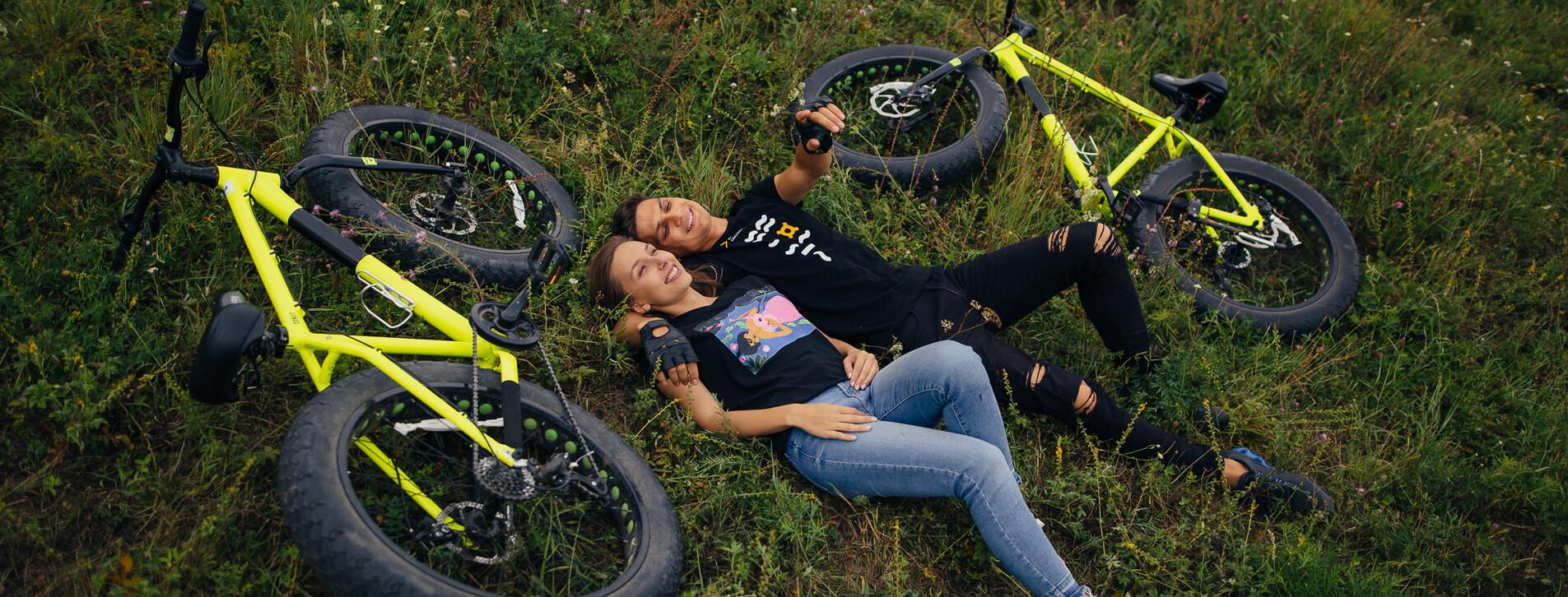 Fotoğraf - İki kişi için Ormanda Fetbike Bisiklet Turu